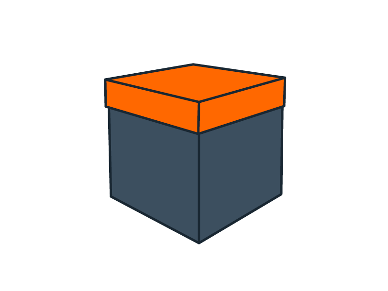 Boîte coffret cube