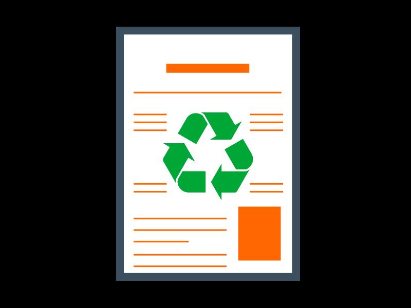Recyclé et écologique