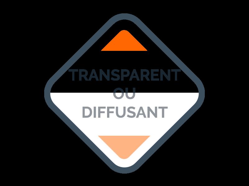 Transparent ou diffusant