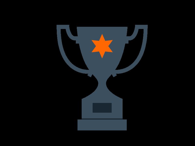 Coupe et trophée